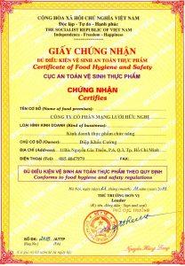 Dịch vụ xin giấy phép an toàn thực phẩm